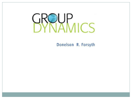 Introduction to Group Dynamics