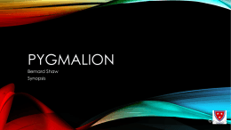 Pygmalion - WordPress.com
