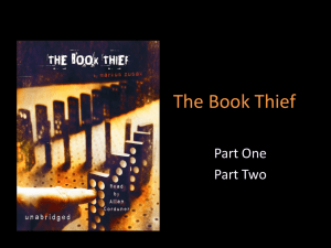 The Book Thief Parts One & Two - TheGrade