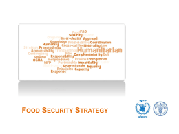 PowerPoint-presentatie - Food Security Clusters