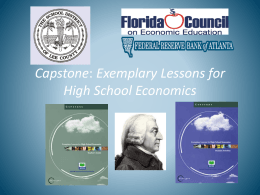 Capstone: Exemplary Lessons for High School Economics