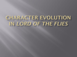 Character Evolution in Lord of the Flies