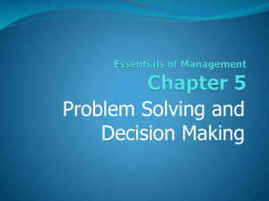 5. Problem Solving and Decision Making.