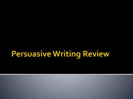 Counterpoint argumentative essay