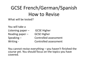 GCSE French/German/Spanish How to Revise