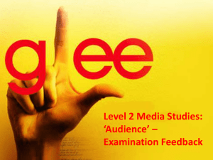Glee exam feedback