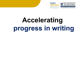 Accelerating progress in writing Beliefs underpinning effective