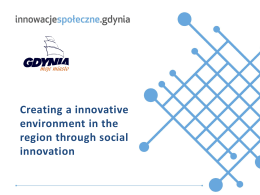 Creating an innovative environment in the region through