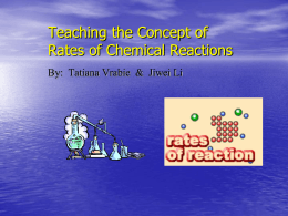 Rate of Reaction Power Point