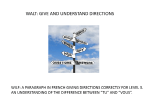 giving directions