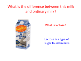 Lactose intolerance - Kent Science Resource Centre