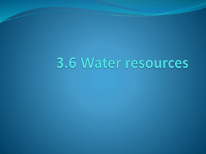 3.6 Water resources - Environmental Systems and Societies