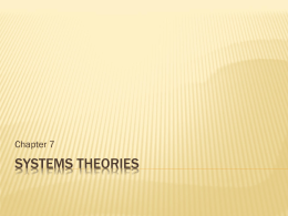 Systems theories