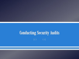 Describe how usage audits can protect security