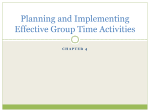 Planning and Implementing Effective Group Time Activities chapter 4