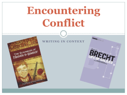 Encountering Conflict – Intro