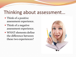 Big Picture Assessment