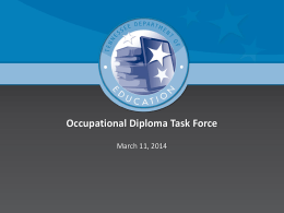 Occupational Diploma Task Force