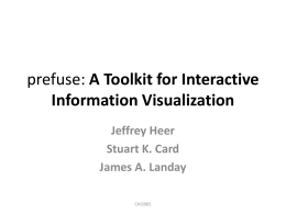 prefuse: A Toolkit for Interactive Information Visualization