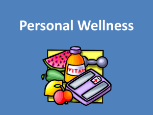 Personal Wellness Plan