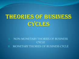 theories of business cycles