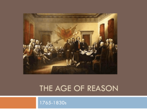 The Age of reason - Honors American Literature