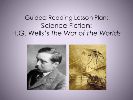 Guided Reading Lesson Plan: Science Fiction: H.G. Wells*s The