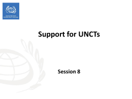 Session 8 - Support for UNCTs