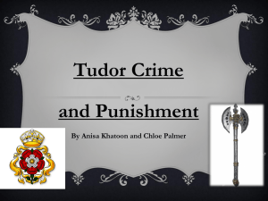 What were different types of Tudor crimes?