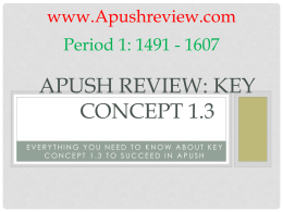 APUSH-Review-Key-Concept-1.3