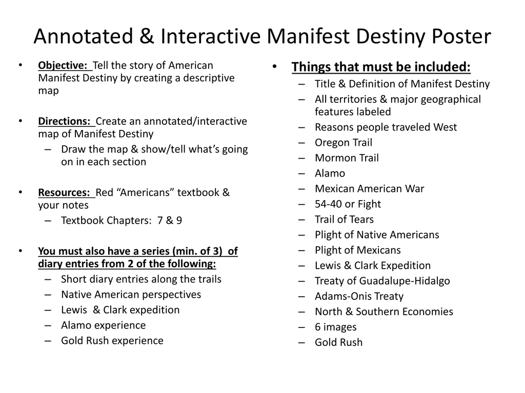 worksheet Manifest Destiny Worksheet hush descriptive map manifest destiny