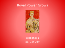 8-1 Royal Power Grows