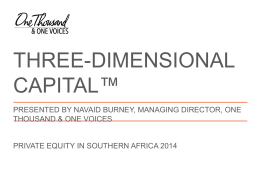 Navaid Burney - Three Dimensional Capital