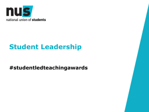 Student leadership workshop - Student Led Teaching Awards