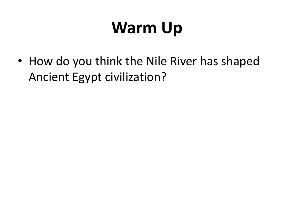 how did the nile shape ancient