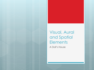 Visual, Aural and Spatial Elements