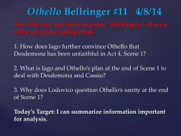 Othello Bellringer # 1 2/25/14