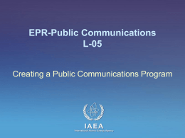 L-05 Creating a Public Communications Program
