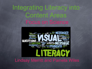Integrating Literacy into Content Areas