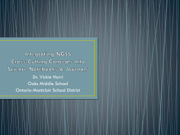 Integrating NGSS Cross-Cutting Concepts Into