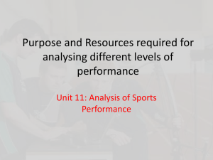 Purpose and Resources required for analysing
