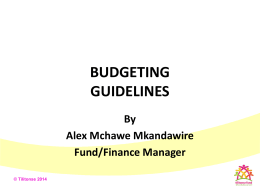 Budget Guidelines