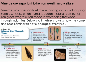 PowerPoint Minerals are important to human wealth and welfare