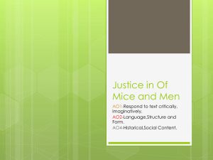 Justice in Of Mice and Men