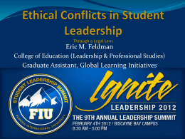 Ethical Conflicts in Student Leadership Through a Legal Lens