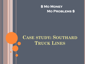 Case study: Southard Truck Lines