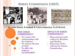 Nehru Report (1928) and Simon Commission (1927)