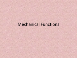 Mechanical Functions