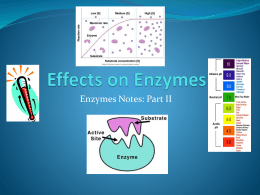 Enzymes and Denaturing