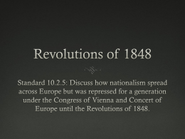 Revolutions of 1848 - HistoryWithMrGreen.com